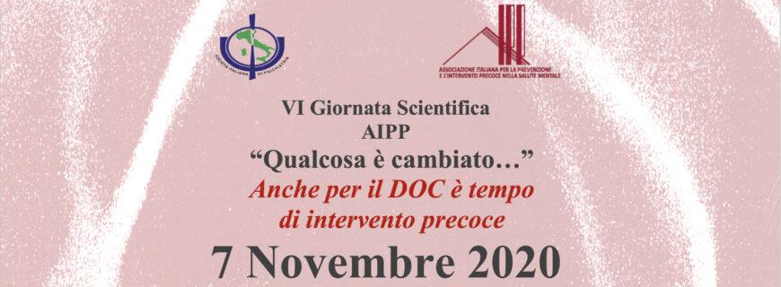 VI Giornata Scientifica AIPP -Evento Online- 7 Novembre 2020